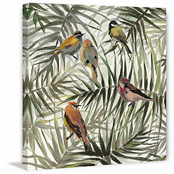 Jungle Birds Canvas Art Print