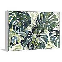 Broad Palm Framed Canvas Art Print