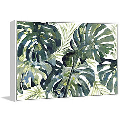 Broad Palm Framed Canvas Art Print