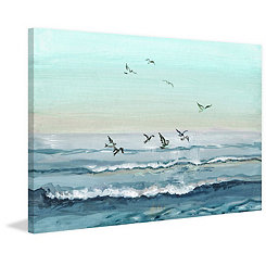 Ocean Birds Canvas Art Print