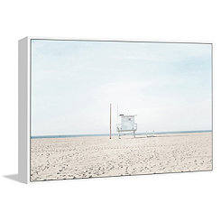 Lifeguard Tower Framed Canvas Art Print