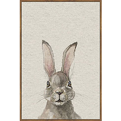 Jack Rabbit Linen Framed Art Print