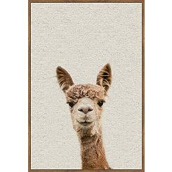 Alpaca Linen Framed Art Print
