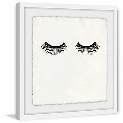 Long Lashes Framed Art Print