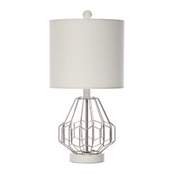 Metal Wire Diamond Table Lamp