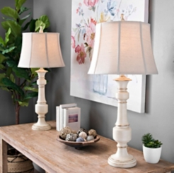 Caden Distressed Cream Table Lamps, Set of 2