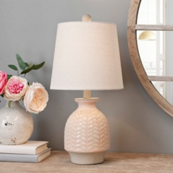 Terra Blush Chevron Ceramic Table Lamp