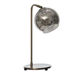 Brass Mercury Glass Globe Task Lamp