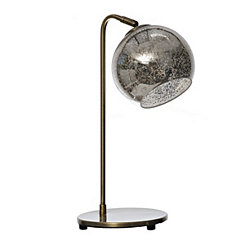 Brass Mercury Glass Globe Task Lamp