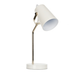 White and Gold Task Lamp