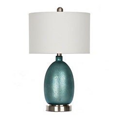 Rich Blue Mercury Glass Table Lamp