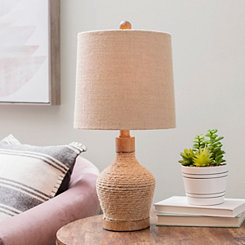 Natural Hemp Rope Wrapped Table Lamp