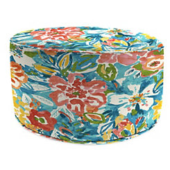 Sun River Sky Round Outdoor Pouf