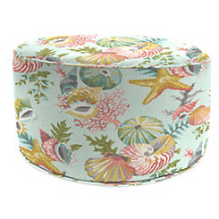 Grantoli Sea Mist Round Outdoor Pouf