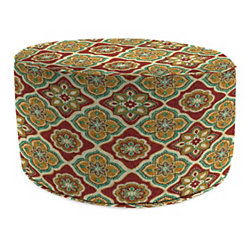 Adonis Jewel Round Outdoor Pouf
