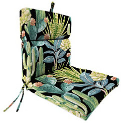 Hatteras Ebony Chaise Outdoor Lounge Cushion