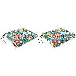 Sun River Sky Outdoor Seat Cushions, Set of 2
