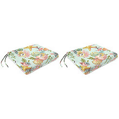 Grantoli Sea Mist Outdoor Seat Cushions, Set of 2