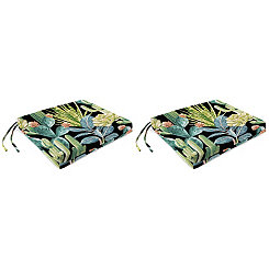 Hatteras Ebony Outdoor Seat Cushions, Set of 2