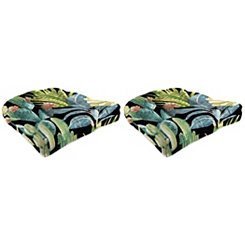 Ebony Outdoor 19 in. Seat Cushions, Set of 2