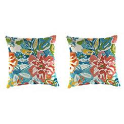 Sun River Sky Outdoor Pillows, Set of 2