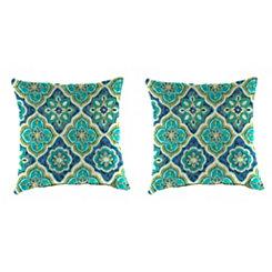 Adonis Capri Outdoor Pillows, Set of 2