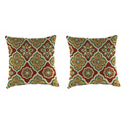Adonis Jewel Outdoor Pillows, Set of 2