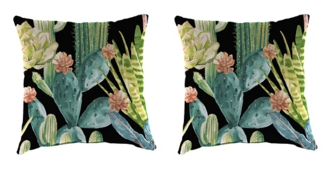 Hatteras Ebony Outdoor Pillows, Set of 2