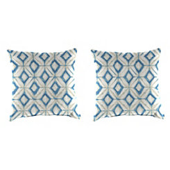 Inkwell Mediterranean Outdoor Pillows, Set of 2
