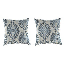 Pellyn Silver Frost Outdoor Pillows, Set of 2