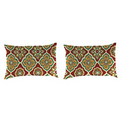 Adonis Jewel Outdoor Accent Pillows, Set of 2