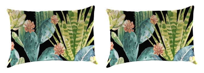 Hatteras Ebony Outdoor Accent Pillows, Set of 2
