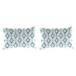Mediterranean Outdoor Accent Pillows, Set of 2