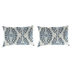 Silver Frost Outdoor Accent Pillows, Set of 2