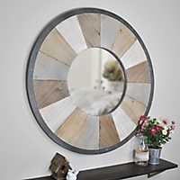 Rustic Wood Adler Wall Mirror