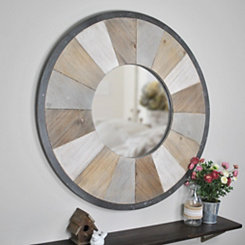 Rustic Wood Adler Wall Mirror