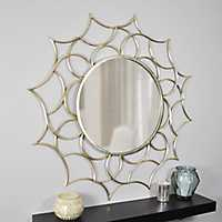 Gold Abstract Channing Wall Mirror
