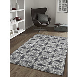 Gray Mosaic Tile Area Rug, 8x10