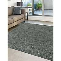 Gray Mosaic Medallion Area Rug, 8x10