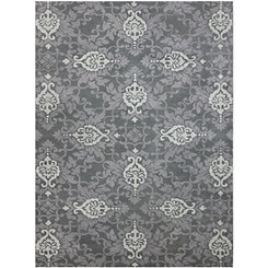 Silver Moroccan Area Rug, 8x10