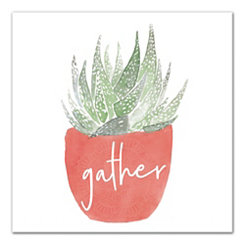 Gather Simple Potted Plant Canvas Art Print