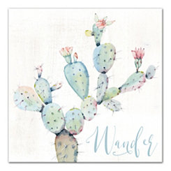 Wander Watercolor Cactus Canvas Art Print