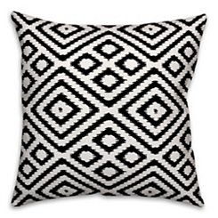 Black and White Diamond Pillow