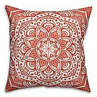 Coral Mandala Pillow