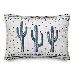 Blue Saguaro Accent Pillow