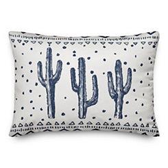 Blue Saguaro Accent Pillow