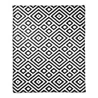 Black and White Diamond Throw