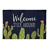 Stick Around Cactus Non-Skid Accent Rug