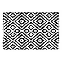 Black and White Diamond Non-Skid Accent Rug