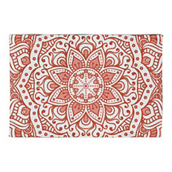Coral Mandala Non-Skid Accent Rug